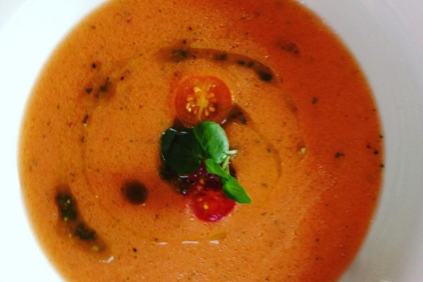Chilled summer tomato veloute