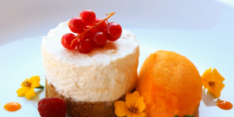 Mango & Passionfruit Cheesecake