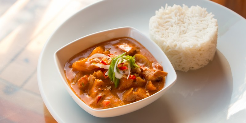Chicken Masaman Curry with Coconut Rice