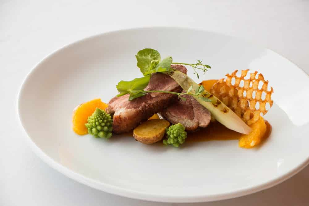 Duck Breast with Orange Reduction  & Gaufrette Potato