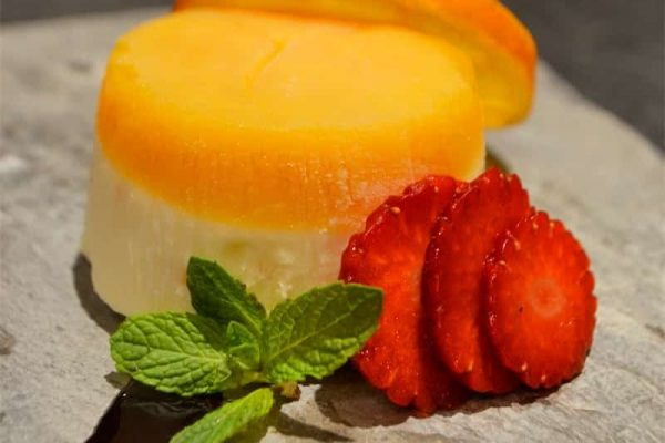 White chocolate and Orange Parfait