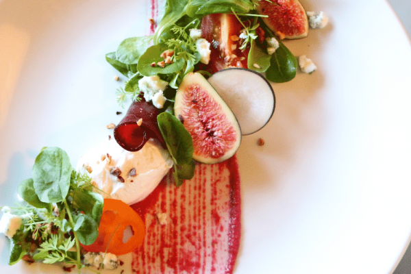 Tomato, Beetroot & warm fig Salad